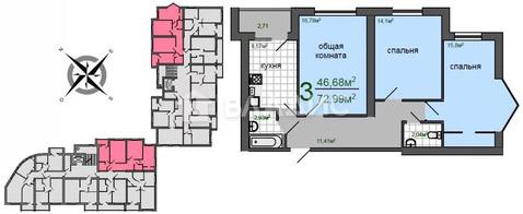 Объявление №62647667: Продаю 3 комн. квартиру. Кстово, ул. Береговая, 2,