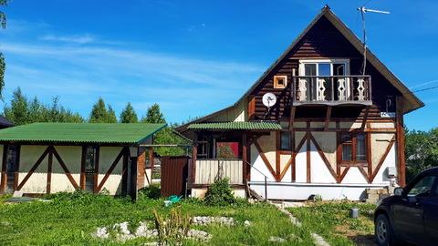 Продам теплый деревянный дом 100м2 в Заокском р-не, возле д.Новоселки - Фото 1