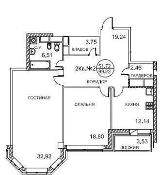 7 секция, 5 и 6 этаж, 5-ти комнатная двухэтажная квартира, 200 кв.м. - Фото 2