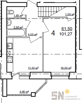 4-ком квартира в Загородном парке - Фото 2