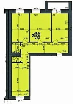 Продам 3х-комнатную квартиру 89 м.кв. в Кальном в новом доме - Фото 3