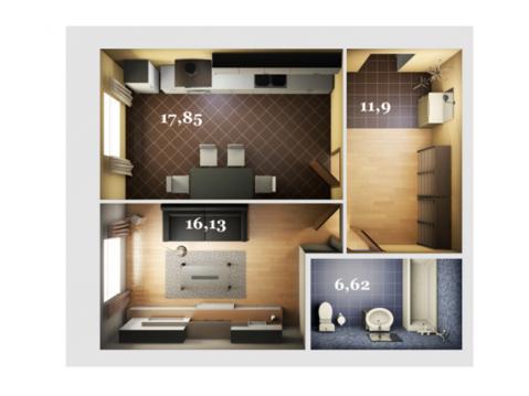 ЖК Журавли Даурская 46-3 однокомнатная квартира рядом м.Горки - Фото 4