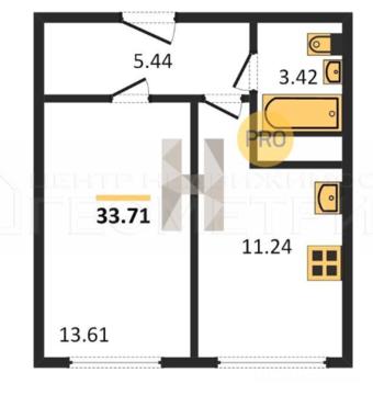 Продам 1-к квартиру, Яблоновский, улица Тургеневское Шоссе 14/1 - Фото 2