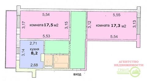 2-х комнатная квартира в районе новой школы №50, Купить квартиру в Белгороде по недорогой цене, ID объекта - 320775924 - Фото 1