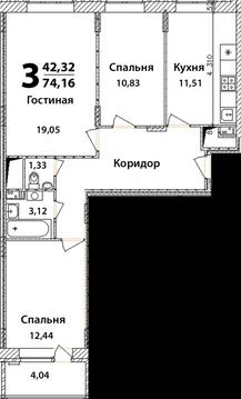 3х комнатная квартира Ногинск г, 3 Интернационала ул, 226 - Фото 3