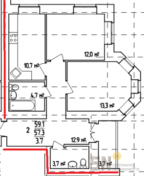 2-ком квартира в центре города - Фото 2