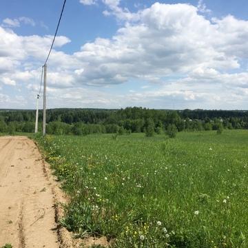 Участок 13,58 сот. граница с лесным массивом, д.Сазонки, 39км. от МКАД - Фото 1