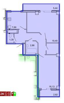 Продажа двухкомнатная квартира 67.63м2 в ЖК Рощинский дом 7.1. секции . - Фото 1