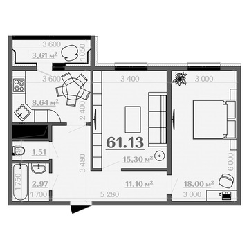 Продам двухкомнатную квартиру в Дашково-Песочне. - Фото 1