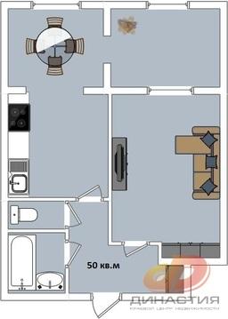 Полуторка с кухней - гостиной в кирпичном доме. - Фото 1