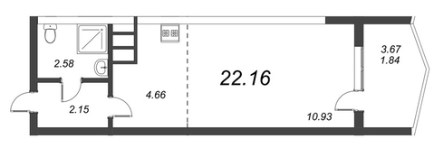1 326 280 Руб., Продам студию. Воронцовский б-р к.А-Г, Купить квартиру Мурино, Всеволожский район по недорогой цене, ID объекта - 318417951 - Фото 1