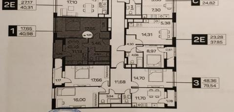 Филатов луг, одномнатная квартира 41 кв.м.