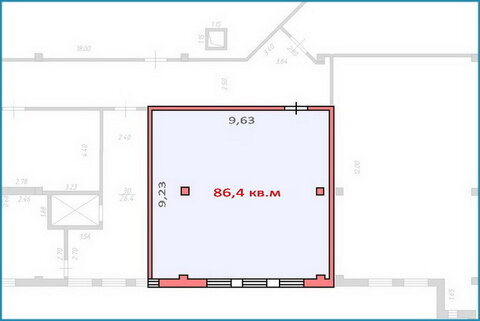 Псн 86,4 кв.м в действующем тоц в центре Красногорска, 6 км от МКАД - Фото 4