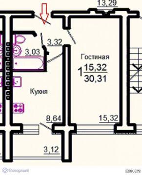 Квартира 1-комнатная Саратов, Волжский р-н, Берёзки, ул Хрустальная, Купить квартиру в Саратове по недорогой цене, ID объекта - 315807439 - Фото 1