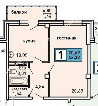 Продам 1-комнатную квартиру в новостройке. - Фото 1