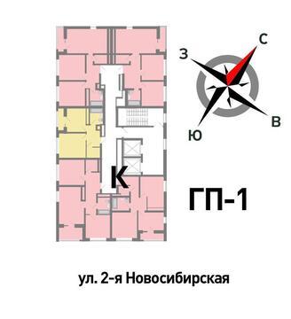 Продажа двухкомнатная квартира 53.95м2 в ЖК Солнечный гп-1, секция к - Фото 2