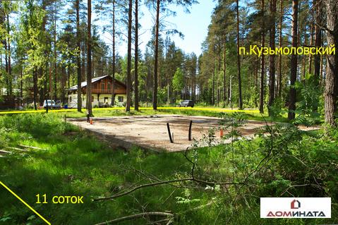 Уникальный участок 11 соток в п.Кузьмоловский - Фото 1