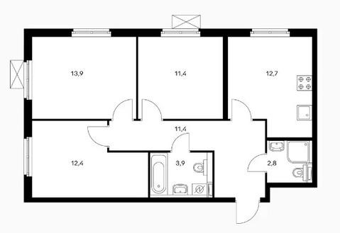Объявление №50530004: Квартира 3 комн. Обнинск, ул. Курчатова, к2,