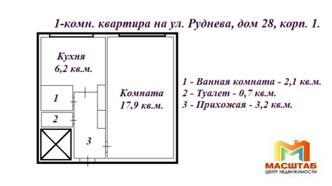 1-к на Руднева - Фото 2