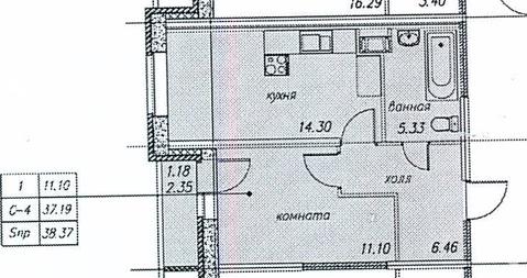 Однокомнатная квартира в новом доме в п. Парголово - Фото 2
