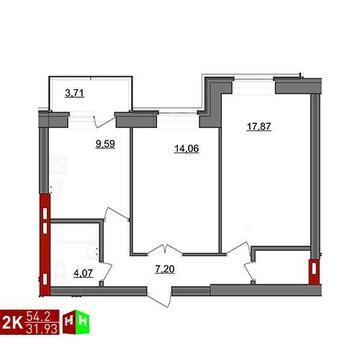 Продажа двухкомнатная квартира 54.2м2 в ЖК Чистые пруды дом 2 - Фото 1