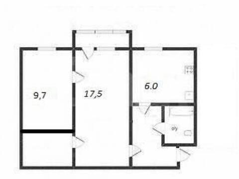1 850 000 Руб., Продажа двухкомнатной квартиры на переулке Никитина, 125 в Калуге, Купить квартиру в Калуге по недорогой цене, ID объекта - 319812468 - Фото 1