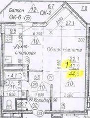 Продается 1 - комнатная квартира. Белгород, 60 лет Октября ул. - Фото 3