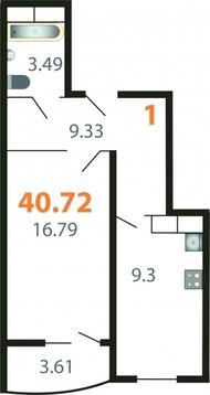 Продаю 1-комнатную квартиру в мкр.Веризино, д.12 Флагман - Фото 2