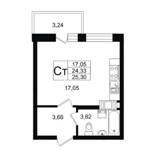 Продажа квартиры, Мурино, Всеволожский район, Петровский бульвар - Фото 2