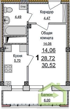 """Однокомнатная квартира-студия с отделкой на """"Улитке"""" - Фото 2"""