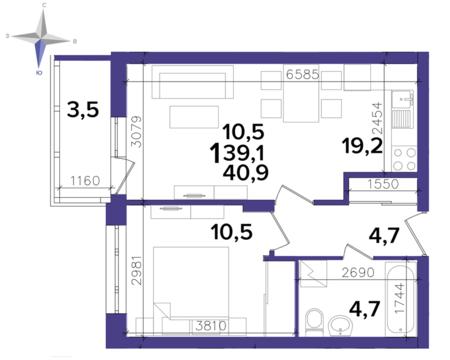 Продажа 1- комнатной квартиры в новом доме, ул.Кальная 79 - Фото 2