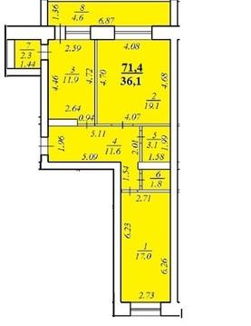 Продам 2 квартиру в мкр.Лента Чебоксары в сданном доме