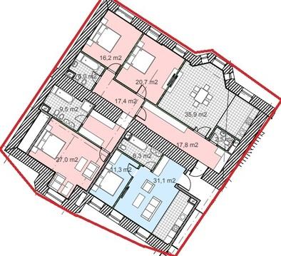 """ЖК """"Полянка/44""""-219 кв.м,2эт, квартира с кухней-гостиной и 6 спален - Фото 4"""