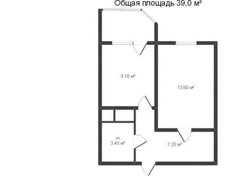 Продажа однокомнатной квартиры на Солнечном бульваре, 20 в Калуге, Купить квартиру в Калуге по недорогой цене, ID объекта - 319812762 - Фото 1