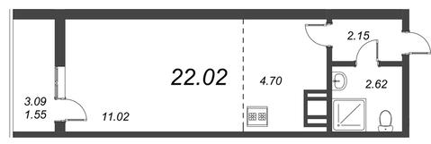 Продам студию. Воронцовский б-р к.А-Г, Купить квартиру Мурино, Всеволожский район по недорогой цене, ID объекта - 318417866 - Фото 1