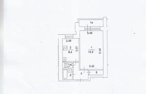 1-к Квартира, г. Москва, ул. Ивановская, д. 34 - Фото 4