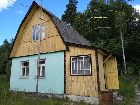 Деревянный дачный дом 84 км от МКАД Ступинский район, СНТ в районе - Фото 1
