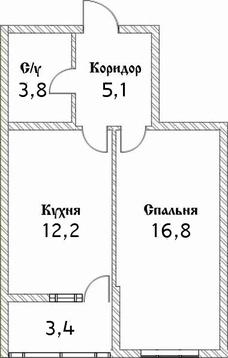1-комнатная, ЖК Шоколад - Фото 1