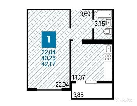 1-к квартира, в новом монолитном доме - Фото 2
