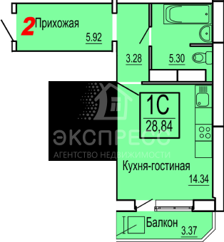Продам 1-комн. квартиру, Патрушево, Митинского, 3 - Фото 2