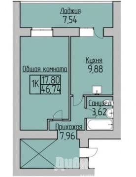 Продам однокомнатную (1-комн.) квартиру, Романтиков ул, 7, Новосиби. - Фото 1