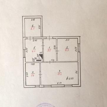 Дом 46м2, 2 комнаты+кухня, 24 сот! 79км Беляевский рн - Фото 1