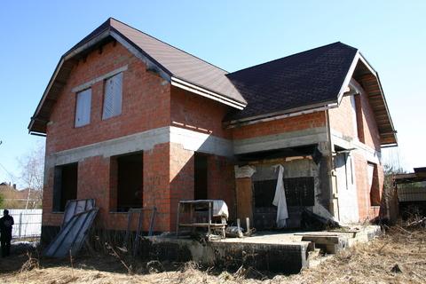 Продам дом недострой 220 м на участке 10 сот, Истринский р-н, Борки-3 - Фото 1