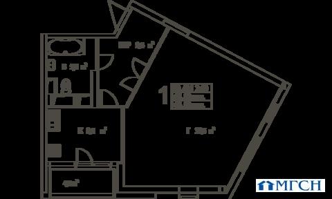 1-комн квартира в ЖК Дыхание 66 м2 - Фото 1