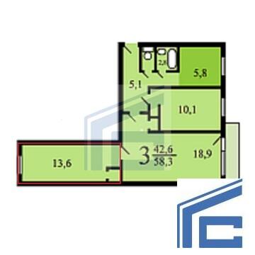Продается комната в 3-х комн.кв. Батюнинская 2 к 2 - Фото 5