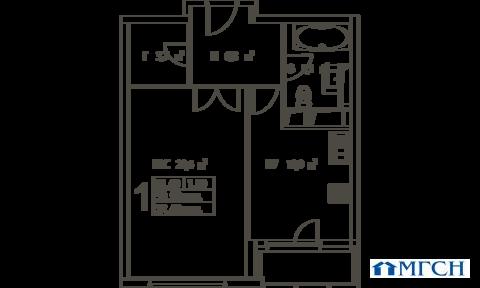 1-комн квартира в ЖК Дыхание 52,4м2 - Фото 1