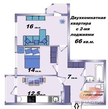 Двухкомнатная квартира, стяжка-штукатурка, Перспективный - Фото 1