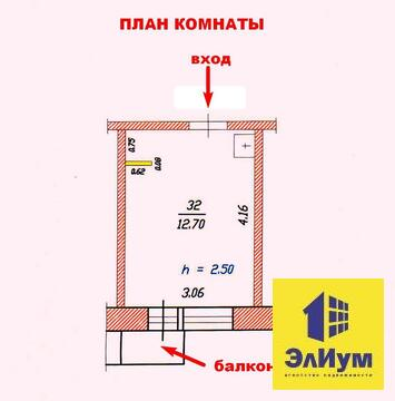 549 777 Руб., Продам комнату с проведенной водой, имеется балкон в центре Чебоксар, Купить комнату в квартире Чебоксар недорого, ID объекта - 700762412 - Фото 1