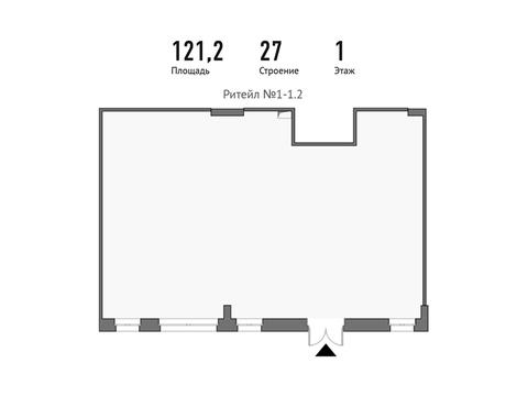 Продажа помещения свободного назначения 121.2 м2 - Фото 1