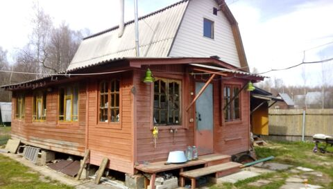 Продаю зимнюю дачу в Ступинском районе, дом из бревна с.Ситне-щелканов - Фото 1